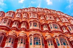Het paleis van Mahal van Hawa in Jaipur, India Stock Afbeeldingen