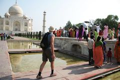 Het paleis van Mahal van Taj Royalty-vrije Stock Fotografie