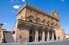 Het paleis van mensen. Orvieto. Umbrië. Italië. Royalty-vrije Stock Foto's