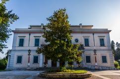 Het paleis van Monrepos in Korfu Griekenland Royalty-vrije Stock Fotografie