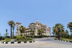 Het Paleis van Montaza in Alexandrië, Egypte Stock Foto's