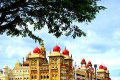 Het paleis van Mysore in de stad Mysore, India Royalty-vrije Stock Foto's