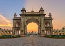 Het Paleis van Mysore, India stock foto's