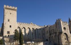 Het Paleis van pausen - Avignon - Frankrijk royalty-vrije stock afbeeldingen