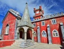 Het Paleis van Pena (Palacio DA Pina) Sintra in Portugal Royalty-vrije Stock Afbeeldingen