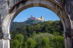 Het Paleis van Pena, Sintra, Portugal Royalty-vrije Stock Afbeeldingen