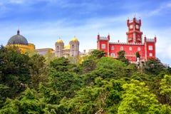 Het paleis van Pena, sintra, Portugal stock fotografie