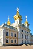 Het Paleis van Peterhof. De kerk royalty-vrije stock afbeelding