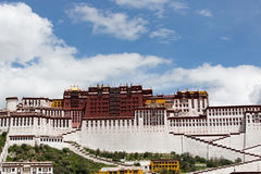 Het Paleis van Potala De plaats van de Dalailama Lhasa, Tibet Royalty-vrije Stock Afbeeldingen