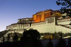 Het paleis van Potala in Lhasa stock foto