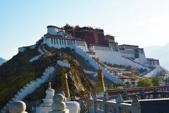 Het Paleis van Potala in Tibet Stock Afbeelding