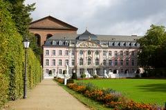 Het paleis van prinskiezers in Duits Trier, Royalty-vrije Stock Foto's