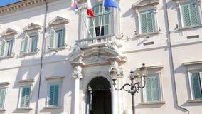 Het paleis van Quirinale Rome, Italië - Februari 18, 2015 stock footage