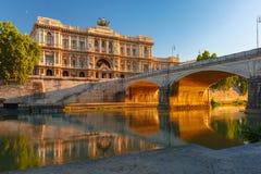 Het paleis van rechtvaardigheid in Rome, Italië royalty-vrije stock fotografie