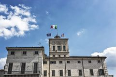 Het Paleis van Rome, Italië Quirinal stock foto's