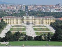 Het paleis van Schoenbrunn in Wenen Stock Foto