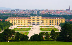 Het Paleis van Schonbrunn in Wenen. stock afbeelding