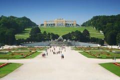 Het Paleis van Schonbrunn in Wenen, Oostenrijk royalty-vrije stock foto's