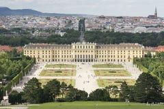 Het paleis van Schonbrunn, Wenen, Oostenrijk Stock Foto's