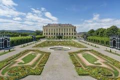 Het paleis van Schonbrunn, Wenen, Oostenrijk Stock Afbeelding