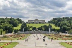 Het paleis van Schonbrunn, Wenen, Oostenrijk Stock Fotografie