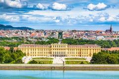 Het paleis van Schonbrunn, Wenen, Oostenrijk royalty-vrije stock foto