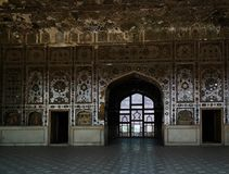 Het Paleis van Sheeshmahal in Lahore-fort in Pakistan royalty-vrije stock foto