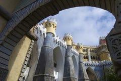 Het paleis van Sintra stock afbeeldingen