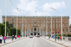 Het Paleis van Stockholm - Stockholms slott Royalty-vrije Stock Fotografie