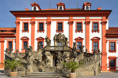 Het paleis van Troja in Praag Stock Foto