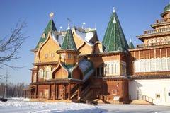 Het paleis van Tsaar Alexei Mikhailovich. Kolomenskoye. Moskou Stock Fotografie