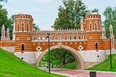 Het paleis van Tsaritsino Stock Afbeelding