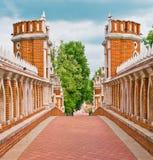 Het paleis van Tsaritsino, brug. Royalty-vrije Stock Afbeeldingen