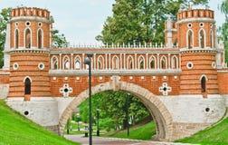 Het paleis van Tsaritsino. Brug. Royalty-vrije Stock Fotografie