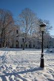 Het paleis van Verkiu in Vilnius Stock Afbeeldingen