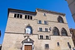 Het paleis van Vitelleschi. Tarquinia. Lazio. Italië. Royalty-vrije Stock Afbeelding