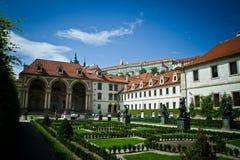 Het paleis van Wallenstein in Praag Stock Afbeelding