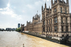 Het paleis van Westminster stock foto