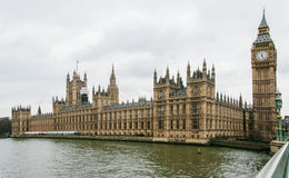 Paleis van Westminster Londen Royalty-vrije Stock Afbeeldingen