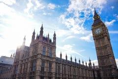 Het Paleis van Westminster en Big Ben, Londen, Engeland stock fotografie