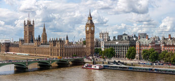 Het Paleis van Westmister in Londen Stock Foto