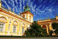 Het paleis van Wilanow stock fotografie