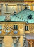 Het paleis van Wilanow in Warshau Stock Foto