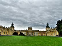 Het paleis van Wilanow in Warshau Royalty-vrije Stock Afbeeldingen
