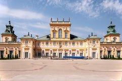 Het Paleis van Wilanow in Warshau, Polen stock foto