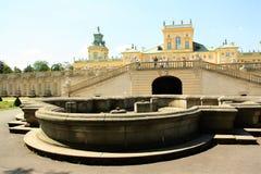 Het Paleis van Wilanow in Warshau, Polen Stock Foto's