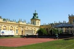 Het Paleis van Wilanow in Warshau, Polen Stock Afbeelding