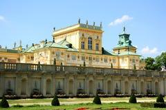 Het Paleis van Wilanow in Warshau, Polen Stock Afbeeldingen