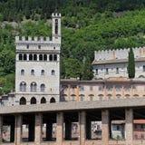 Het Paleis van Wonderfullconsullen in Gubbio Umbrië Stock Fotografie