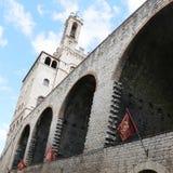 Het Paleis van Wonderfullconsullen in Gubbio Umbrië Stock Foto